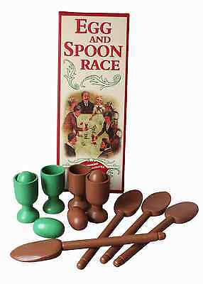 Egg And Spoon Race Retro Game Vintage Wooden Family Entertainment Group Friends