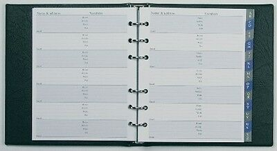 Collins Ringbound Telephone and Address Book New - Black