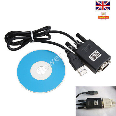 Fast USB 2.0 to RS232 Serial Port DB9 9 Pin Male Converter Adapter Cable PDA GPS