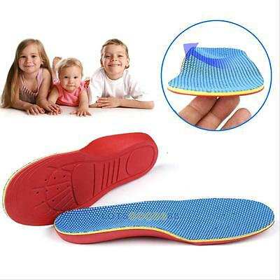 Kids Orthotic Orthopedic Arch Support Shoe Insoles Pads Flatfeet Pain Relief LS