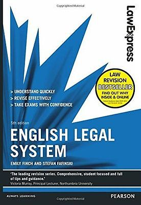 **NEW** - Law Express: English Legal System (Paperback) - ISBN1292012854