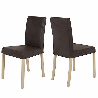 stuhlset 2 st hle sessel kernbuche buche massiv sitz braun pvc holz neu ovp eur 149 00. Black Bedroom Furniture Sets. Home Design Ideas