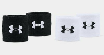 "**New** Under Armour 3"" 7.5cm UA Performance Sports Wristband - 1276991"