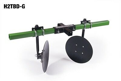 Heavy Hitch Garden Bedder Disc Hiller John Deere green H2TBD-G