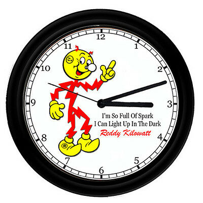 Reddy Kilowatt Electrician Electrical Tool Utility Retro Vintage Sign Wall Clock