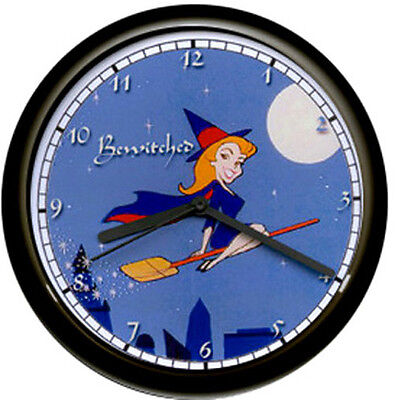 Bewitched Samantha Witch Broom Costume TV Show Sign Wall Clock