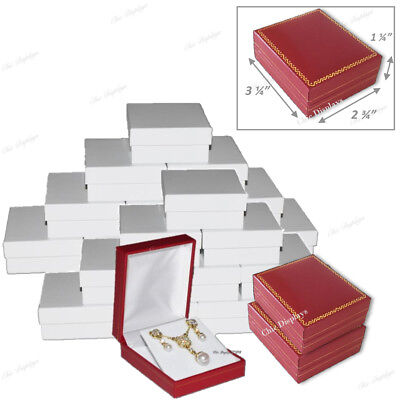 Lot Of (24) Pendant Boxes Red Gift Boxes Wholesale Jewelry Boxes Earring Boxes