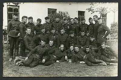 Latvian Military Pilots Group Photo WWII Nice Condition !!!