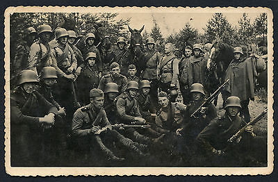 Latvian Soldiers Group Photo WWII Nice Condition !!!