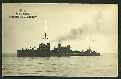 Estonian Warship ''Lennuk'' Photo 1930s Nice Condition !!!