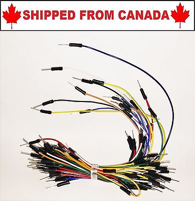 Male to Male Flexible Breadboard Jumper Cable Wires 65Pcs  - SHIPPED FROM CANADA