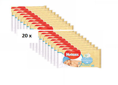 Huggies Natural Care Baby Wipes 20 packs x 56 wipes = 1120 wipes. Bulk Buy!