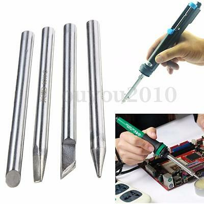 HQ 5.7mm Dia 60W Electric Soldering Solder Iron Bit Four Shape Tips Replaceable