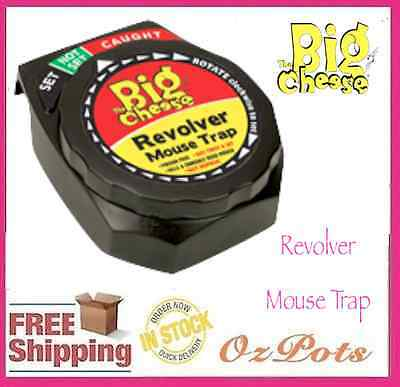 Mouse Trap - Revolver - Child & Pet Safe / No-touch / Easy to Dispose Casing