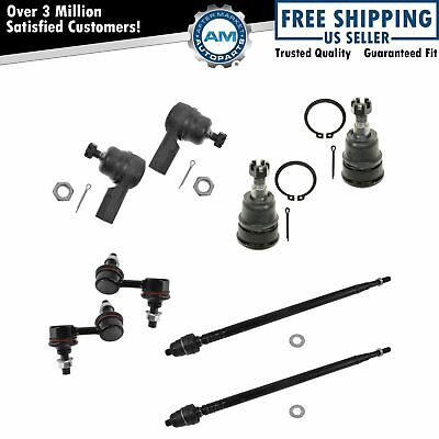 8 Piece Front Steering & Suspension Kit Ball Joint Tie Rod Sway Bar End