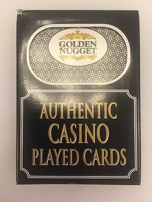 Golden Nugget Casino Las Vegas NV Playing Cards Played Used Deck Vintage Rare