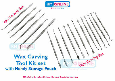 6pc / 12pc Wax Carving Double Ended Sculpting Carving Tools Set Craft Hobby DIY