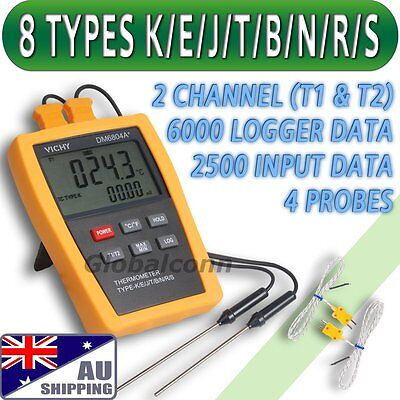 AU Ship Type K E J T B N R S Thermometer Thermocouple mV 1800°C High Temperature
