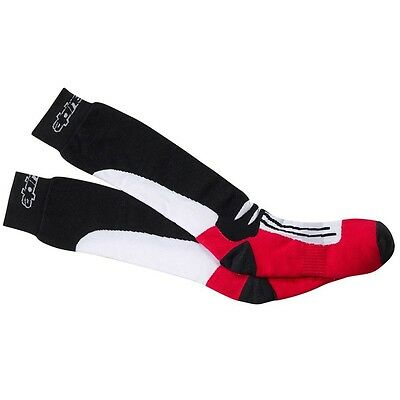 Alpinestars Motorcycle Cycling Sports Racing Road Socks High Long Sock Red Black