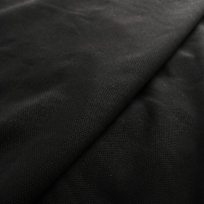 Lingerie Mesh Black Colour Fabric 4 way stretch - by the yard or M - Power Net