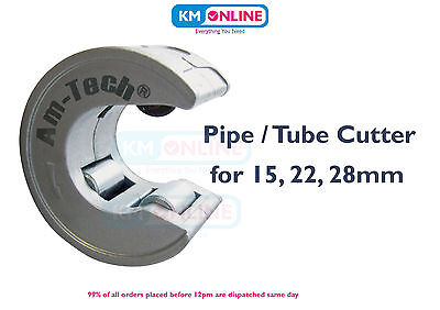 Copper Pipe Cutter Slice Round Tube Pipeslice Easy Cut One Hand 15/22/28 Amtech