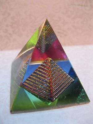 3D Crystal Pyramid Feng Shui For Prosperity And Positive Energy Religious Edh