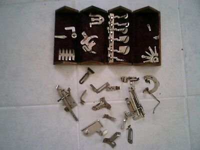 """Antique 1889 """"Puzzle Box"""" Singer Sewing Machine attachments in - lot A"""