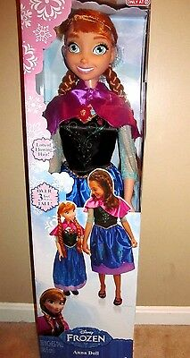 """Disney Frozen MY SIZE ANNA BARBIE DOLL 38"""" OVER 3 FT TALL BIRTHDAY EXPEDITED"""