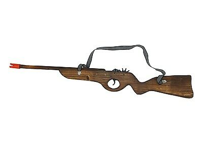 Wooden Snipper Rubber Band Rifle Shooting Gun Wood Toy Gift for Kids and Adults