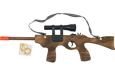 Wooden M4 Rubber Band Rifle Shooting Gun Wood Toy Gift for Kids and Adults