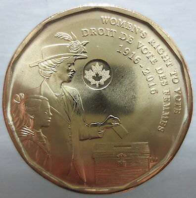 Canada 2016 Women's Right To Vote 100Th Anniversary Dollar Coin