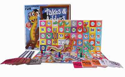 Takes and Adders Board Game Educational Children Mathematical Kids Home Fun