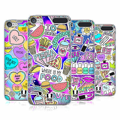 HEAD CASE DESIGNS SASSY STICKERS HARD BACK CASE FOR APPLE iPOD TOUCH MP3
