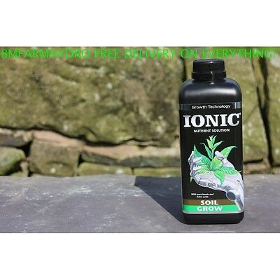 Growth Technology 1 Litre Ionic Soil Grow Nutrient Hydroponics Feed Food Plant