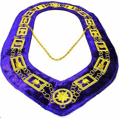 OES Order of Star Chain Collar Purple Backing DMR-900GP