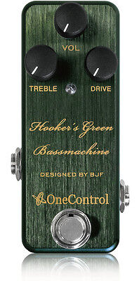 One Control Hookers Green Bass Machine Overdrive Guitar pedal NEW