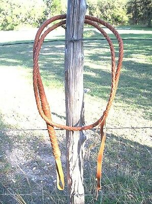 NEW 8ft LEATHER Bullwhip Indiana Jones Stuntman Horse Riding Cracking Bull Whip
