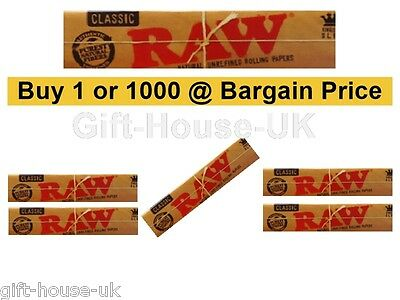 Raw Classic Rizla King Size Slim 110mm Natural Unrefined Rolling Papers Full