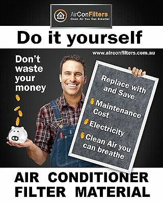 Air Con Filter Replacement Material Media - For All Air Conditioner Brands