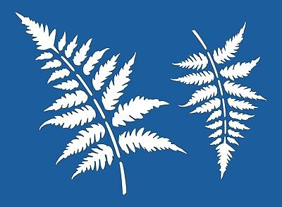 Scrapbooking - STENCILS TEMPLATES MASKS Sheet - Leaf  Stencil - Fern