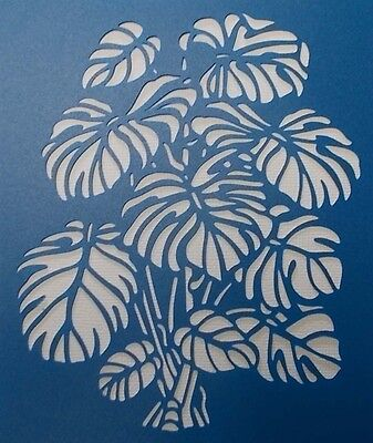 Scrapbooking - STENCILS TEMPLATES MASKS Sheet - Leaf Stencil-Monstera Deliciosa
