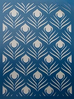 Stencils & Templates - Peacock Feather Background Stencil