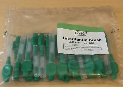 TePe Interdental Brushes Green Size 5, 0.8mm, Packet of 25