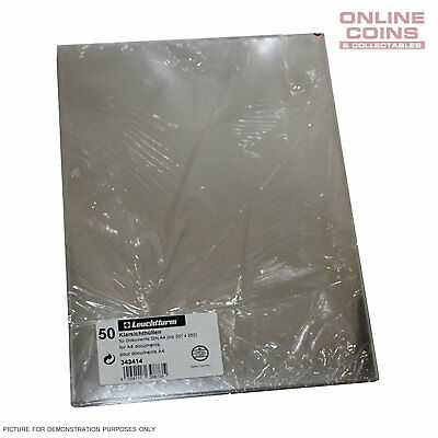 Lighthouse Document Sleeves A4 307mm x 222mm - ARCHIVAL SAFE - 50 Pack