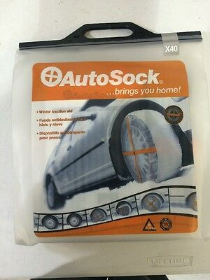 Autosock Snow Chains Fabric Size X40 Fits: 205/65R16 | 205/70R15