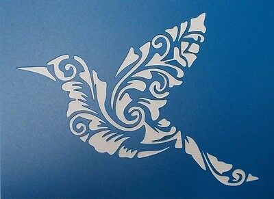 Scrapbooking - STENCILS TEMPLATES MASKS Sheet -Bird Flourish (Large)
