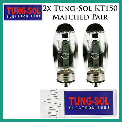 New 2x Tung-Sol KT150 | Matched Pair / Duet / Two Tubes | Free Ship