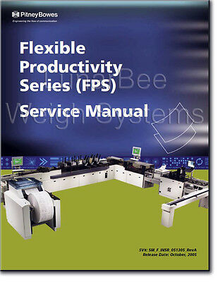 Pitney Bowes Flexible Productivity Series FPS Parts and Service Manuals