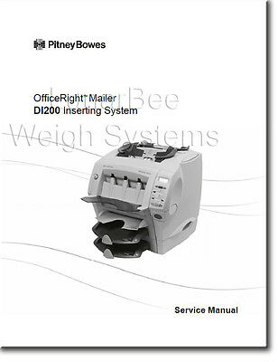 Pitney Bowes Repair Service & Parts Manuals DI200 SI1000 Inserter