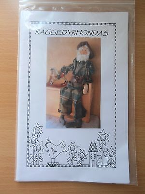 Raggedy Rhondas Santa cloth doll pattern Primitive doll